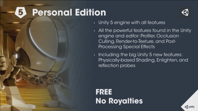Unity3D 5 Personal Edition