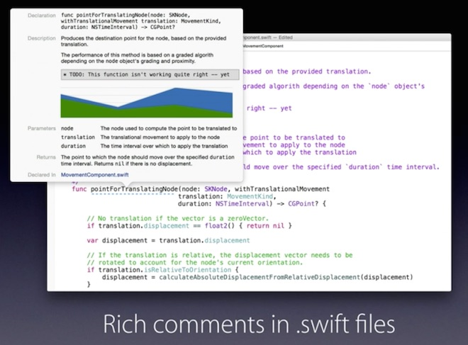 Rich Comments Swift