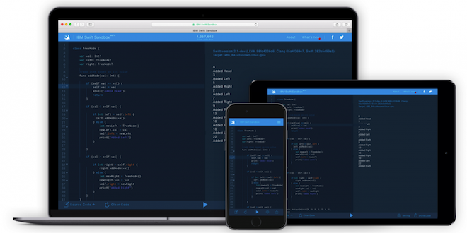 Photo of IBM actualiza Swift Sandbox con diseño responsive y más