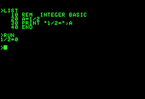 Integer BASIC